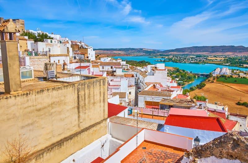 Telhados de Arcos, Espanha fotos de stock royalty free