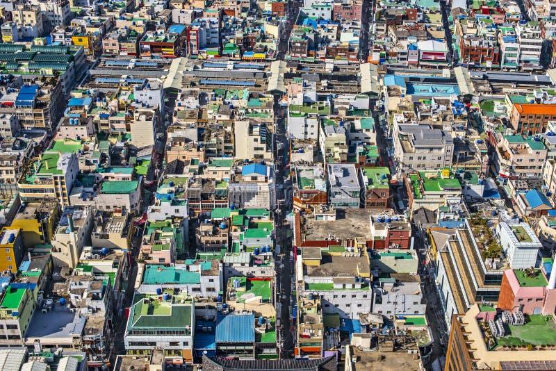 Telhados de Busan imagem de stock royalty free