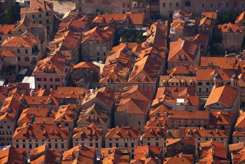 Telhados de Dubrovnik imagem de stock royalty free