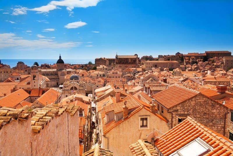 Telhados de Dubrovnik foto de stock royalty free