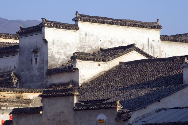 Telhados de Hongcun imagens de stock royalty free