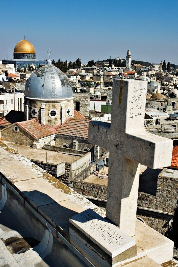 Telhados de Jerusalem foto de stock