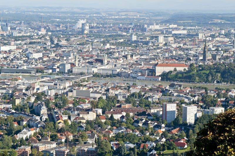 Telhados de Linz imagens de stock royalty free