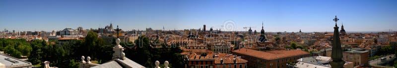 Telhados de Madrid imagens de stock