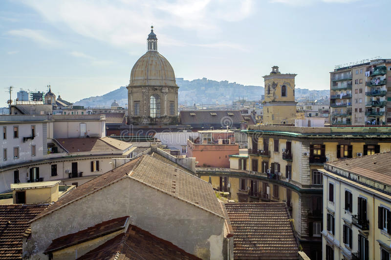 Telhados de Napoli, Itália foto de stock royalty free