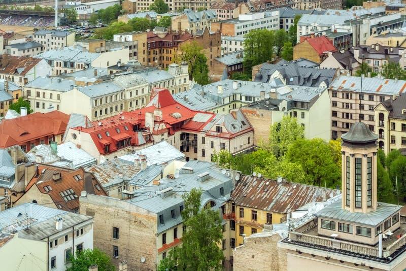 Telhados de Riga fotos de stock royalty free