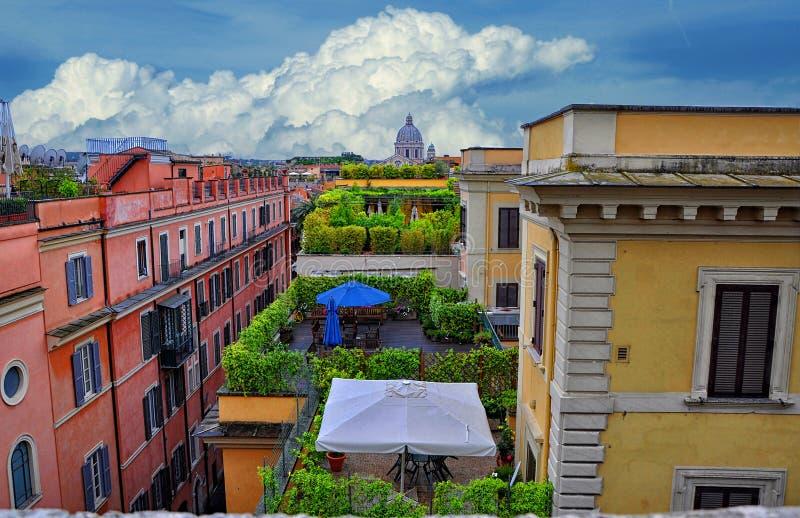 Telhados de Roma, Itália imagem de stock
