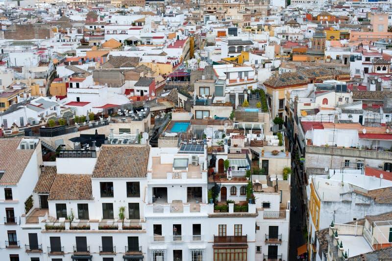 Telhados de Sevilha fotografia de stock