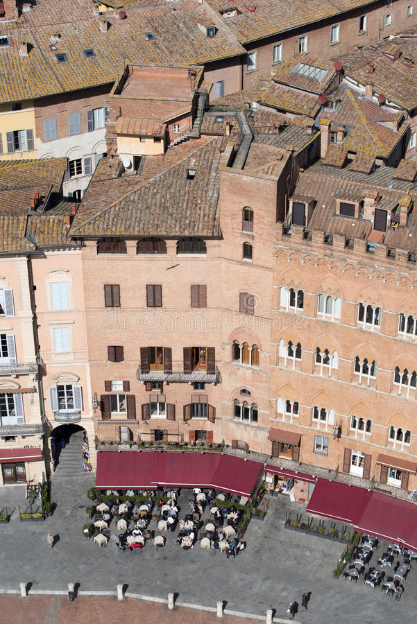 Telhados de Siena fotografia de stock
