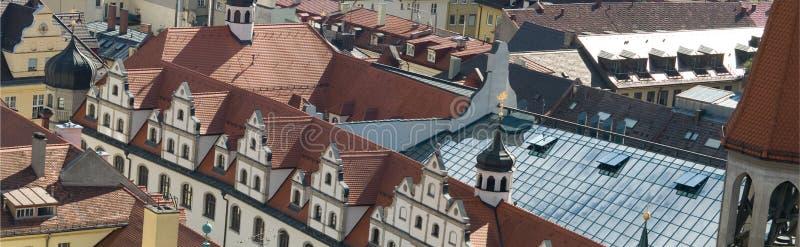 Telhados de telha de Munich, Alemanha (4) imagens de stock