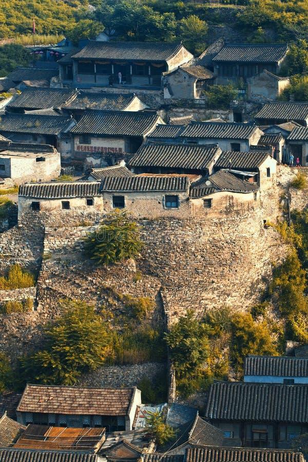 Telhados de telhas chineses imagens de stock
