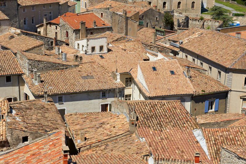 Telhados de Viviers imagens de stock