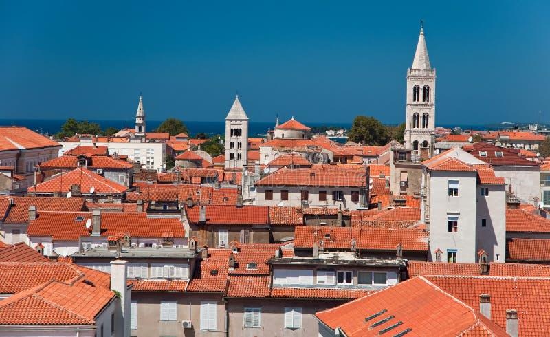 Telhados de Zadar imagens de stock royalty free