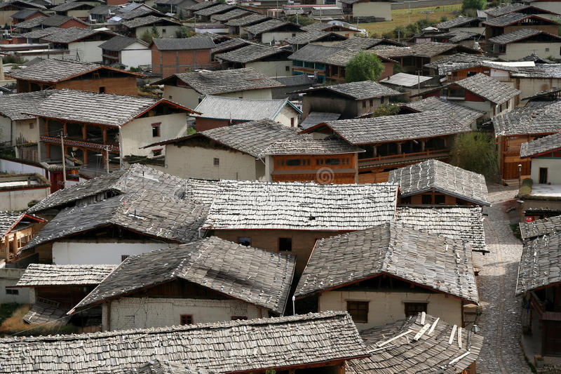 Telhados de Zhongdian fotografia de stock royalty free