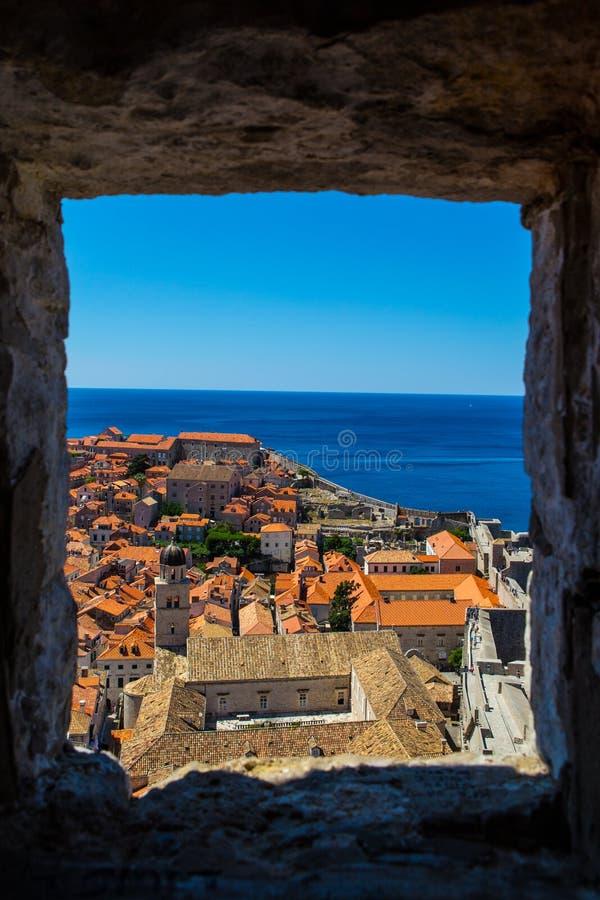 Telhados em Dubrovnik, Croácia fotos de stock royalty free