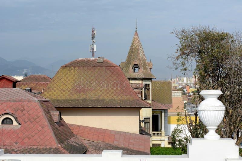 Telhados Lima Peru imagem de stock