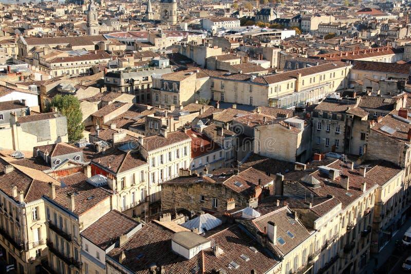 Telhados no Bordéus França imagens de stock