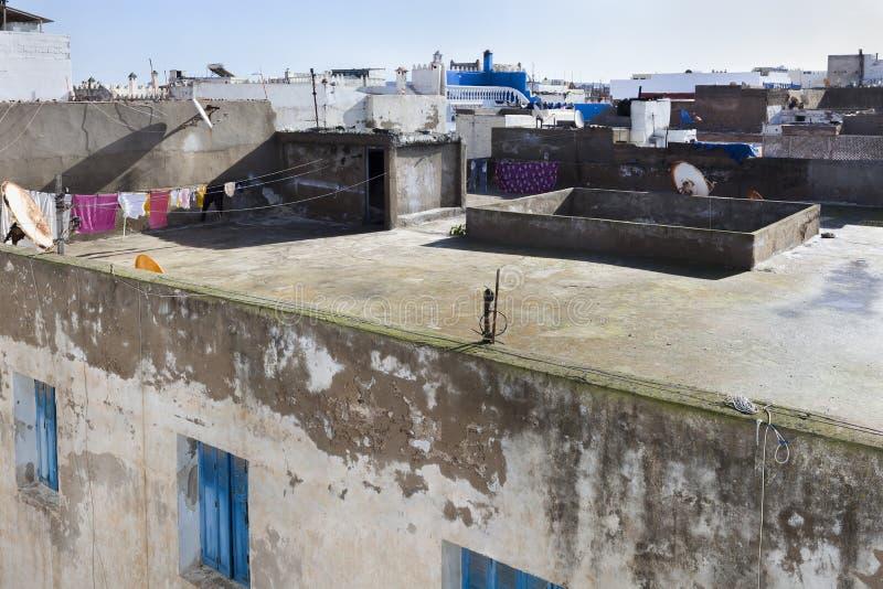 Telhados no medina de Essaouira imagens de stock