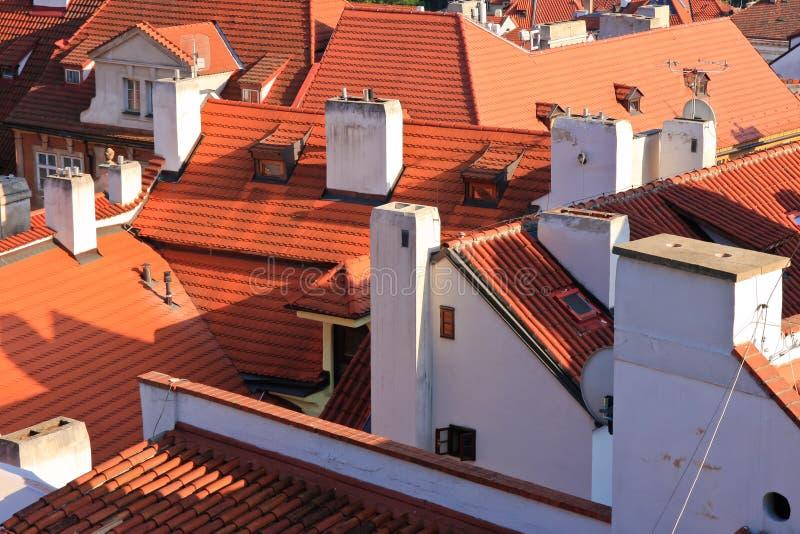 Telhados - Praga fotografia de stock royalty free