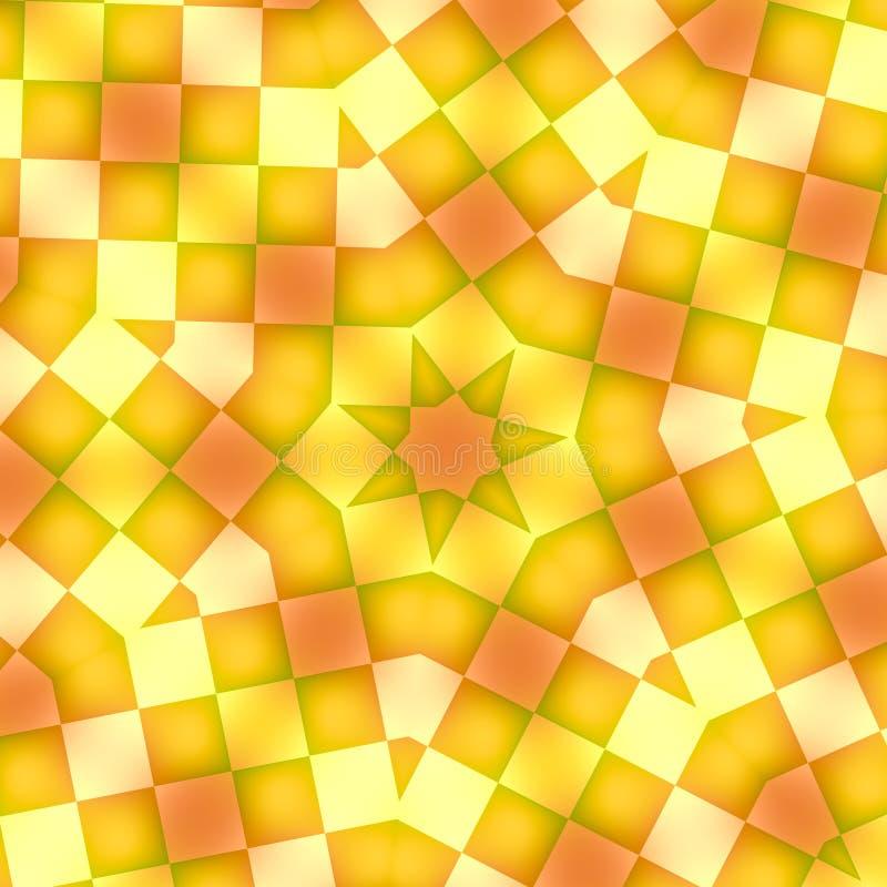 Telhas amarelas ilustração do vetor