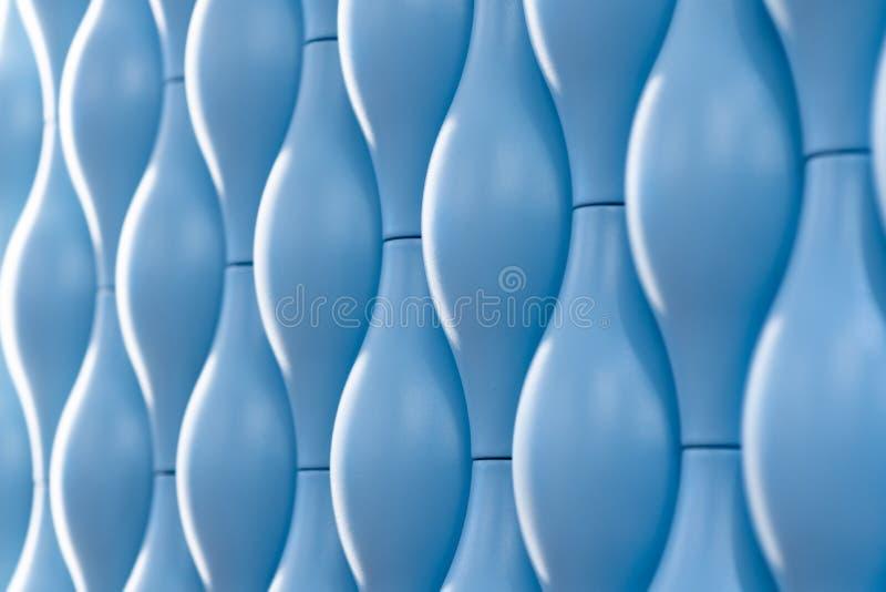 telhas azuis ovais da parede, o tipo do ângulo foto de stock