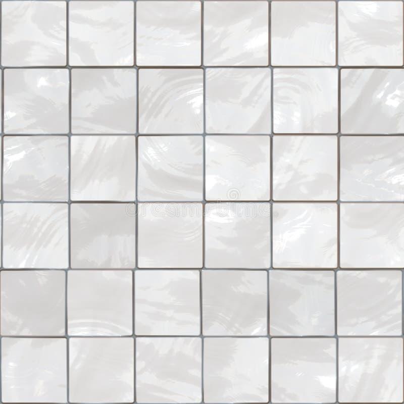 Telhas brancas ilustração stock