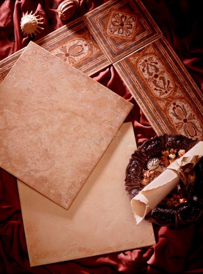 Telhas cerâmicas foto de stock