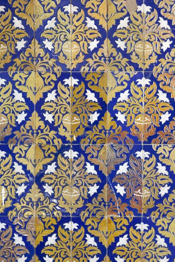 Telhas cerâmicas da parede em Sevilha, Spain imagens de stock