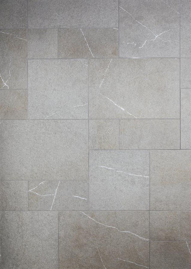 Telhas cinzentas de mármore do mosaico fotografia de stock royalty free