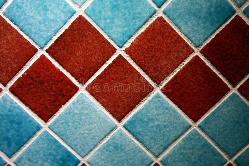 Telhas coloridas da parede fotografia de stock