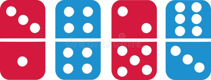 Telhas coloridas do dominó ilustração royalty free