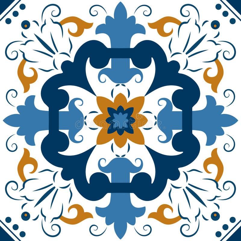 Telhas coloridas sem emenda do ornamento ilustração royalty free