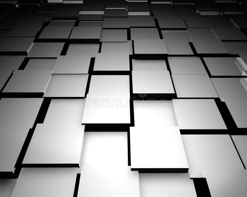 telhas de assoalho 3d abstratas ilustração stock