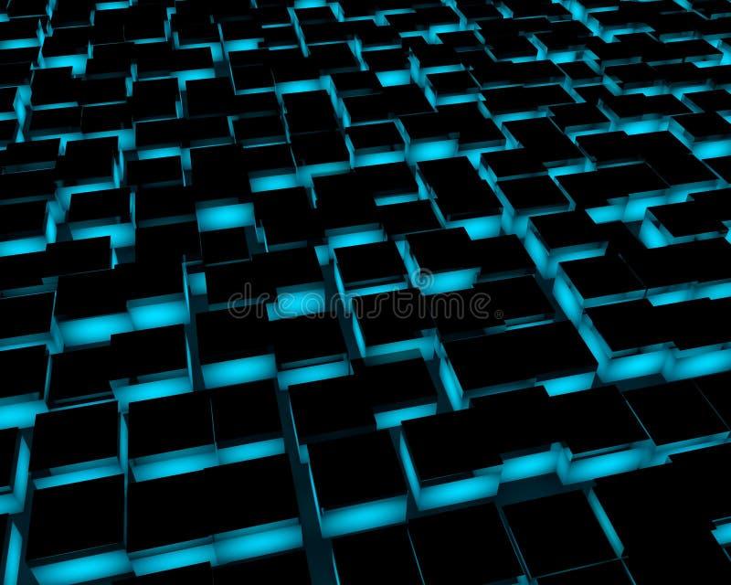 telhas de assoalho 3d abstratas ilustração do vetor