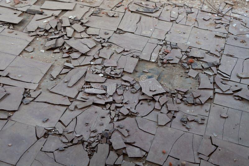 Telhas de assoalho do asbesto fotografia de stock royalty free