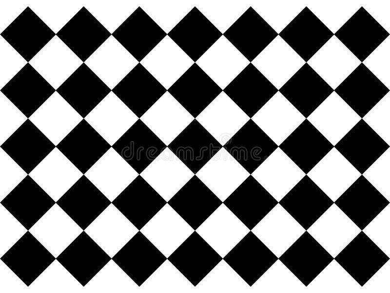 Telhas de assoalho quadriculado preto e branco ilustração royalty free