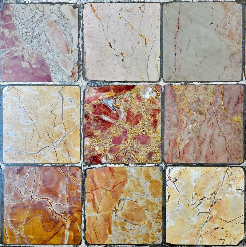 Telhas de mármore imagens de stock