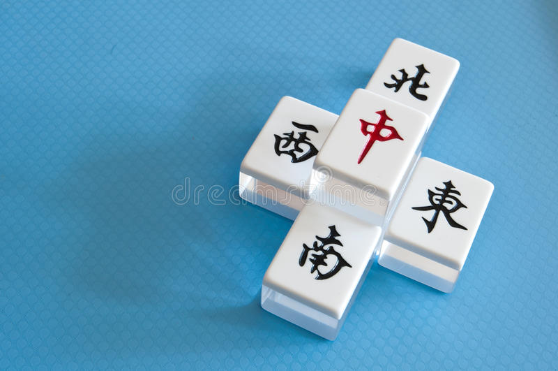 Telhas de Mahjong imagens de stock