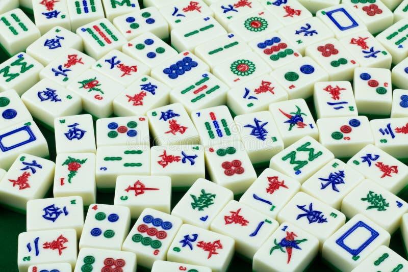 Telhas de Mahjong fotografia de stock