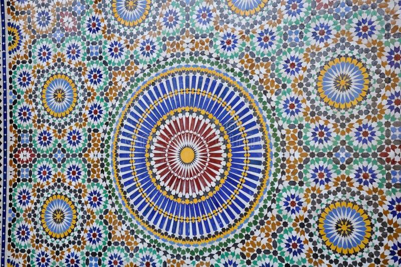 Telhas de Marrocos fotografia de stock royalty free