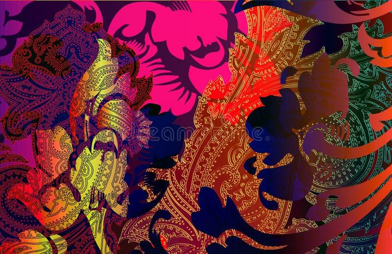 Telhas de Morracan ilustração stock