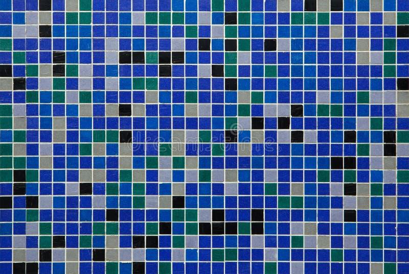 Telhas de mosaico azuis Textura do fundo fotos de stock royalty free