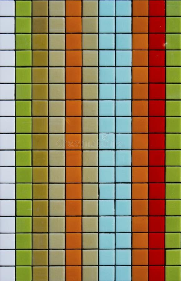 Telhas de mosaico coloridas foto de stock