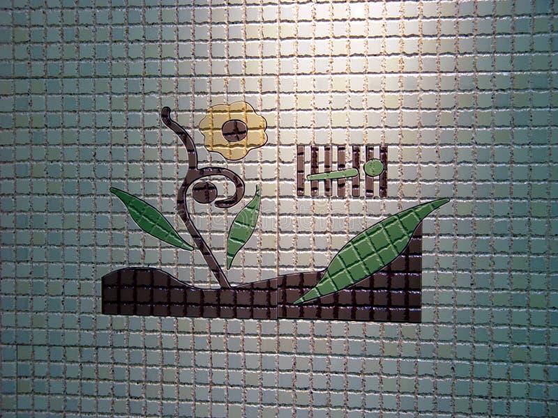 Telhas de mosaico da flor fotos de stock