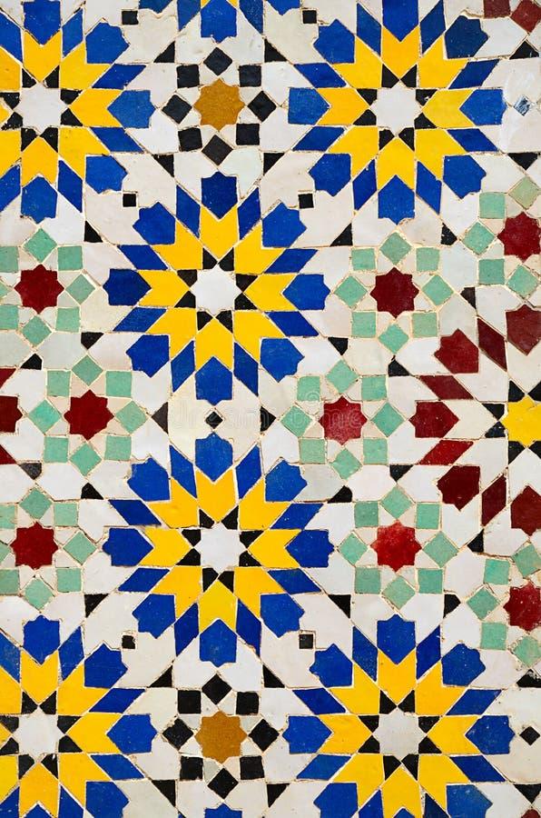 Telhas de mosaico marroquinas imagem de stock royalty free