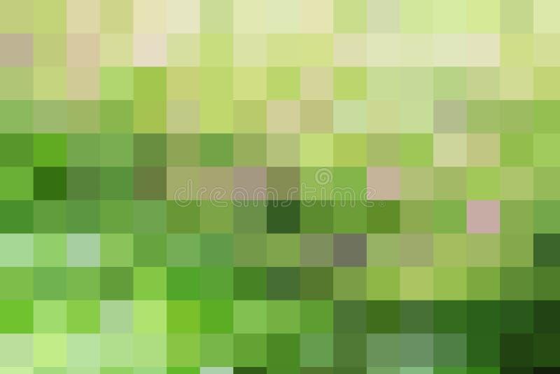 Telhas de mosaico quadradas geométricas da cor verde abstrata do marrom amarelo foto de stock