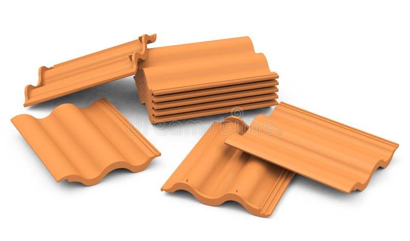 Telhas de telhado ilustração stock