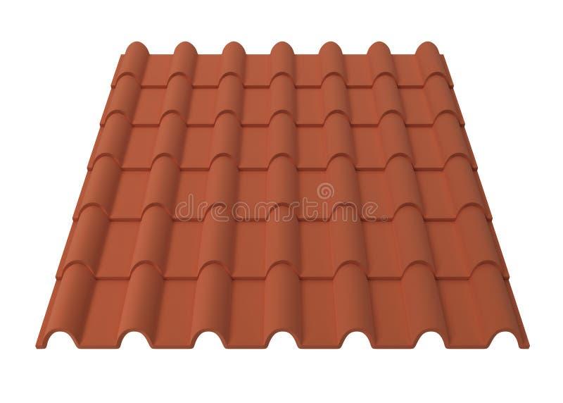 Telhas de telhado ilustração royalty free