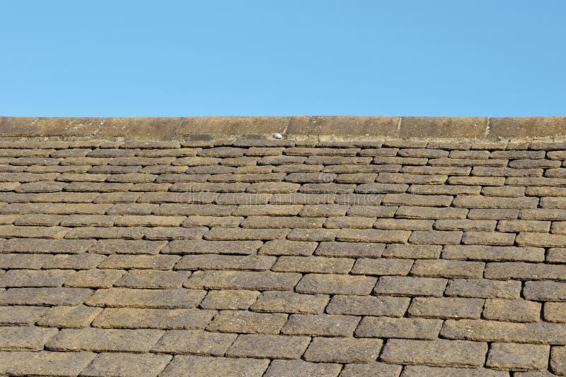 Telhas de telhado da ardósia imagens de stock royalty free