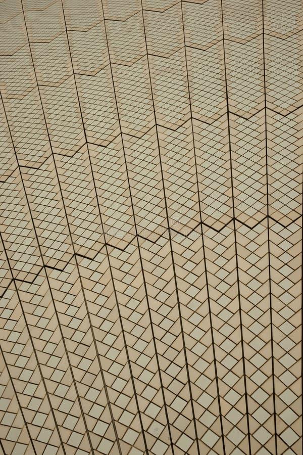 Telhas de telhado do teatro da ópera de Sydney fotografia de stock